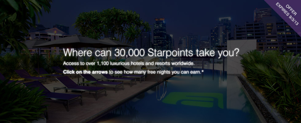 Where can 30,000 Starpoints take you?
