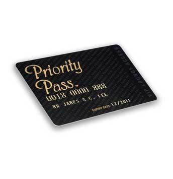 Priority Pass: Standard (30 EUR/visite)